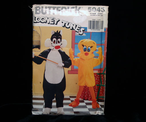 Looney Tunes Butterick Pattern 5043 Sylvester and Tweety Butterick