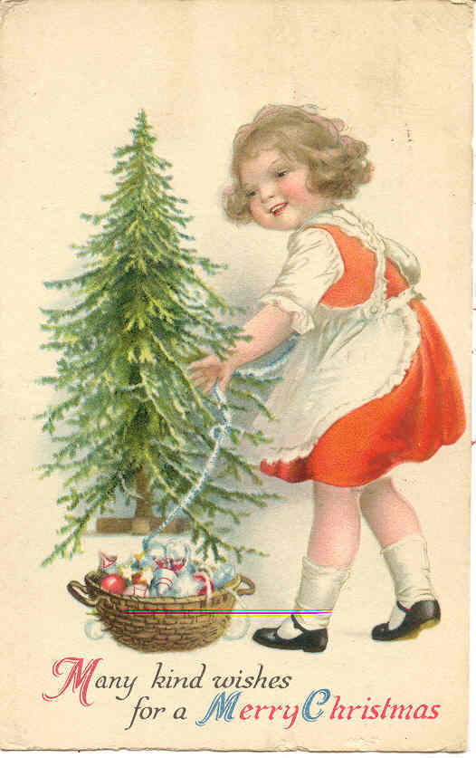 Kind Christmas Wishes Ellen Clapsaddle 1923 Post Card
