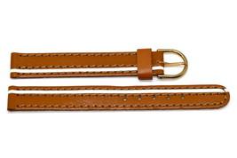 12MM Brown White Stripe Stitched Watch Band Strap - $9.89