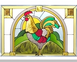 Stained glass rooster 20x14 panel  v 519 thumb155 crop
