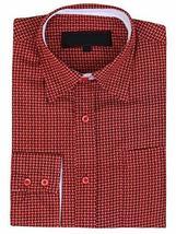 LW Men's Western Cowboy Long Sleeve Button up Rodeo Dress Shirt (Medium, Pattern
