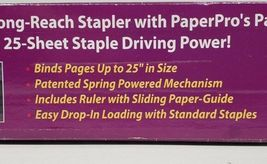 """Paper Pro Long Reach Stapler 12.5"""" With Staples image 5"""