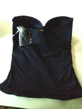 Anne Cole Navy Swim Top Size Large image 2