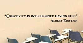 Albert Einstein Creativity Teacher Classroom Quote Vinyl Sticker Decal (b) - $14.99+