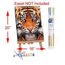 """Adult Paint By Numbers Acrylic Set Tiger Face 16x20"""" Winnies Picks - $37.62"""