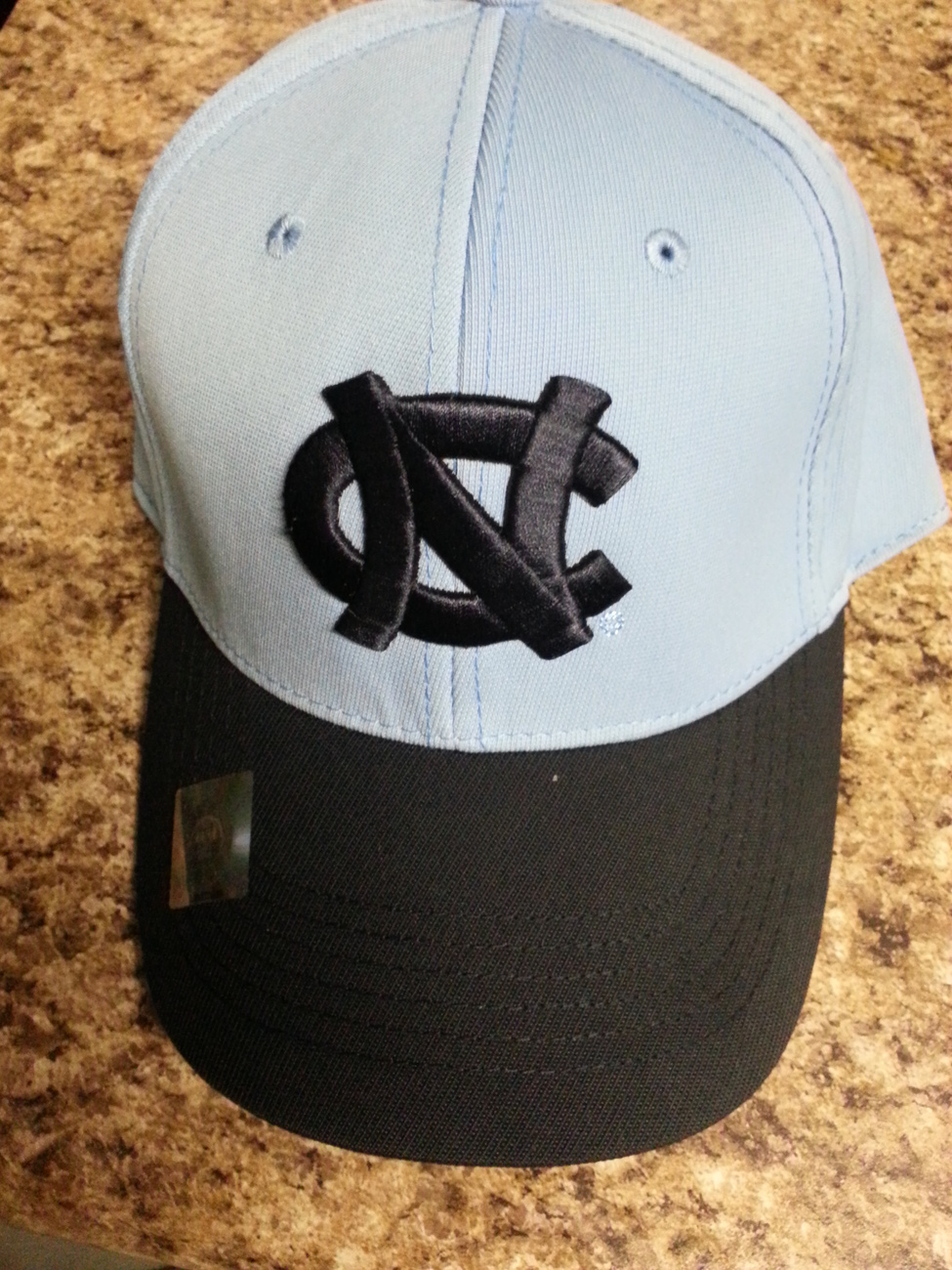 NCAA UNC Tarheels Top of the World Stretch Fitted Hat NEW SZ L/XL