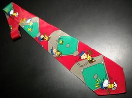 Peanuts Charlie Brown and Gang Neck Tie I Wanna Win Baseball Red Green Ballfield image 1
