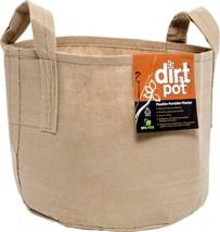Dirt Pot with Handle, 100 gallon, Tan Flexible Portable Fabric Planter, - $673,70 MXN
