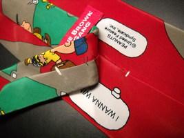 Peanuts Charlie Brown and Gang Neck Tie I Wanna Win Baseball Red Green Ballfield image 6