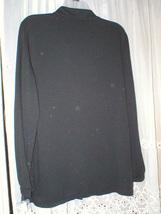 NW0T 1X black  RUFFLE FRONT KNIT BLOUSE APT. 9 image 3