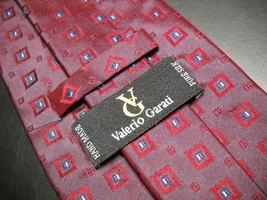 Valerio Garati Neck Tie Silk Hand Made Bright Reds Maroons and Blues image 4