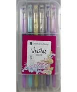 Gel Pen 12 Set Diamond Tip -Metallic, Water Chalk, Glitter, Neon W/Case ... - $13.77