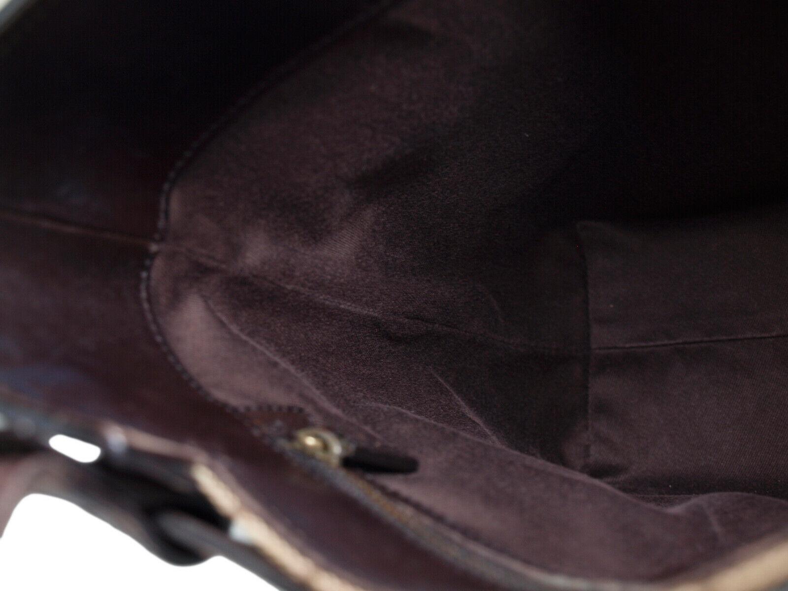 GUCCI GG Web Canvas Leather Browns Shoulder Bag GT2213