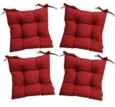RSH Décor Set of 4 - Indoor/Outdoor Sunbrella Canvas Jockey Red Tufted ... - $223.99