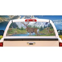 Deer, In All His Majesty Rear Window Mural, Decal, or Tint for rear window in Tr - $77.99