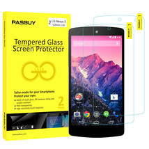 Screen Protector [2Pack PASBUY Retailbox] Tempered Glass for LG Nexus 5 - $5.83