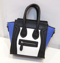 Fashion personalized bag color block small bag cute women's  messenger shoulder  - $33.15