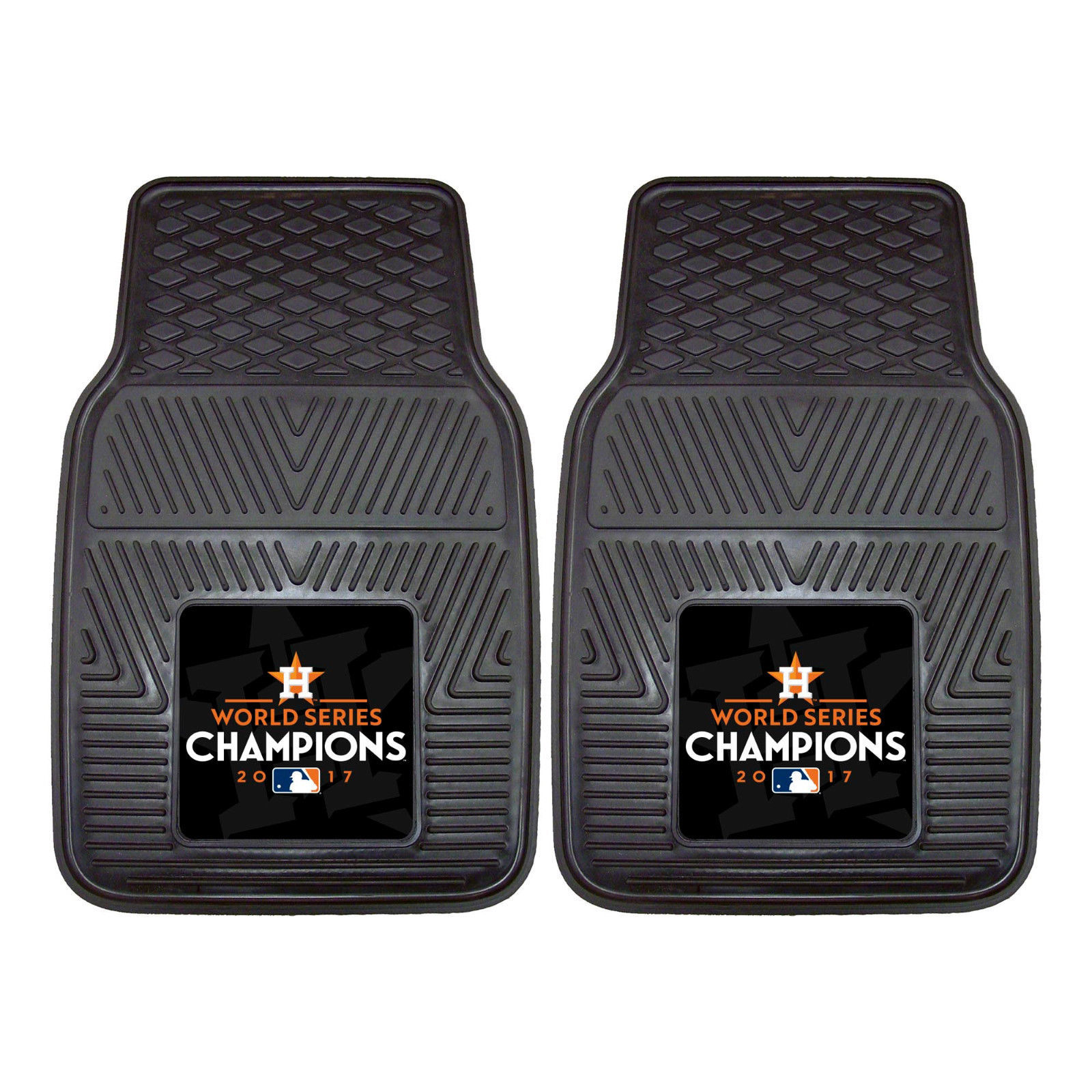 Houston Astros 2017 World Series Car Mats 2Pc or 4Pc Set Front and Rear HD Vinyl
