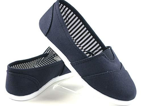 Primary image for New Kids Boys Girls Simple Canvas Slip-On Shoes Flats Loafers 7 Colors (2 Small,