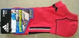 Adidas  Men's PERFORMANCE Red Black Gray Design 2 pair Running Socks Sz ... - $13.99