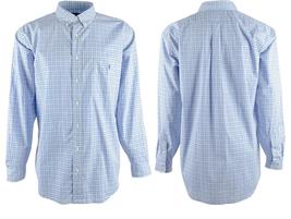 $98 Ralph Lauren Men's Big & Tall Checkered Stretch Oxford, Blue, 4LT - $79.25 CAD