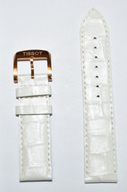 Original Tissot QUICKSTER LADY 19mm White Leather Watch Band Strap For T... - $68.00