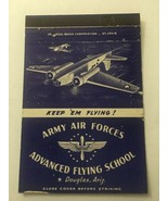 Vintage Matchbook Cover Matchcover Army Air Forces Flying School Douglas AZ - $5.70