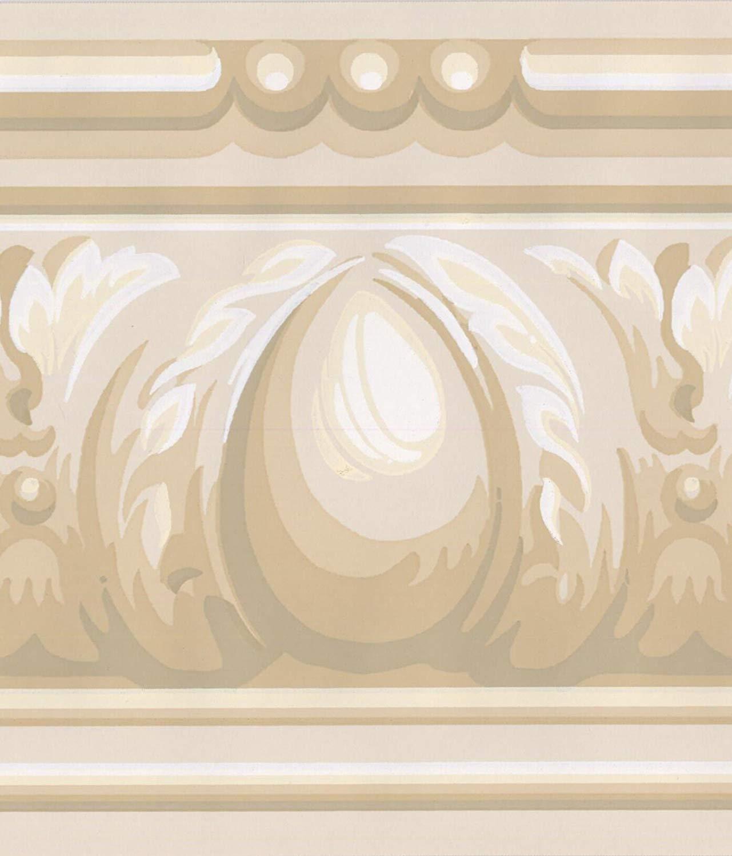AV5569B Beige Brown White Abstract Wallpaper Border