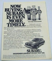 1978 Print Ad The '78 Subaru Car Inexpensive and Built To Stay - $10.09