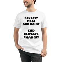Unisex Climate Change Organic T-Shirt Vegan Sustainable Men and Women - $31.68+