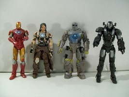 LOT OF 4 MARVEL IRON MAN 2 ACTION FIGURES WAR MACHINE WHIPLASH MARK I HA... - $22.49