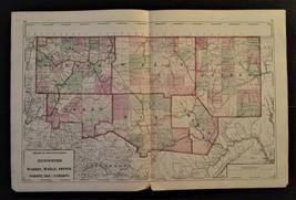 1872 antique hand colored MAP pa 2pg WARREN McKEAN POTTER FOREST ELK CAM... - $67.50