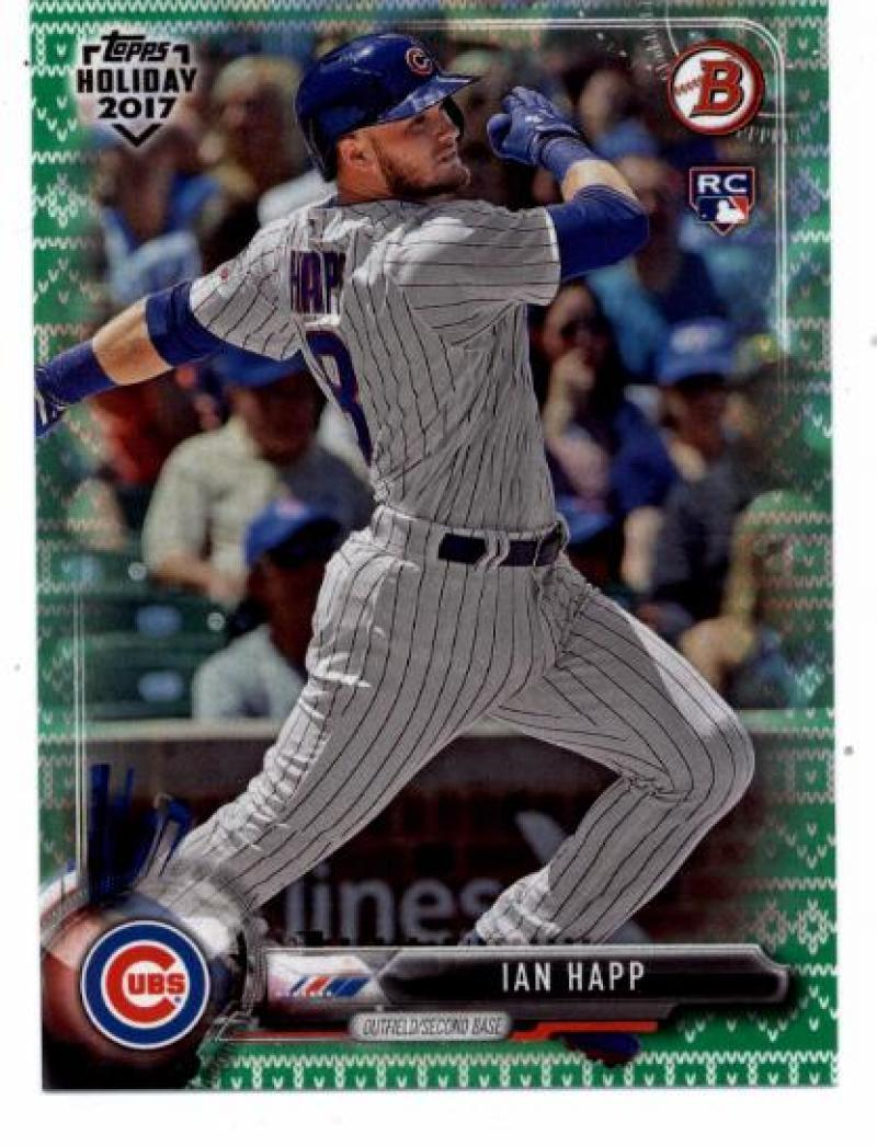 Primary image for 2017 Bowman Holiday Green Holiday Sweater #TH-IH Ian Happ NM-MT /99 Cubs