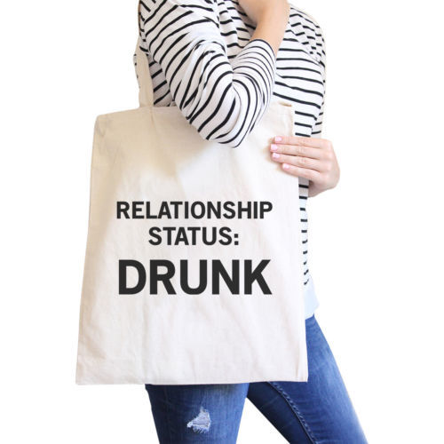 Primary image for Relationship Status Funny Graphic Canvas Bag Witty Quote Tote