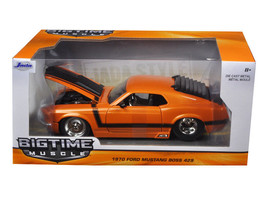 1970 Ford Mustang Boss 429 Orange 1/24 Diecast Model Car by Jada - $34.95