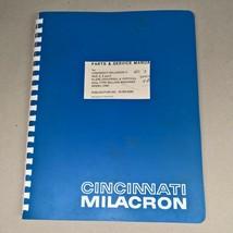 Cincinnati Milacron #2,3,& 4 Model OM Milling Machine Parts & Service Ma... - $95.00