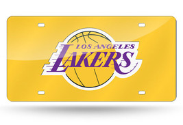 NBA Los Angeles Lakers Laser License Plate Tag - Yellow - $29.39