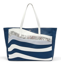 FOSSIL® Sydney All Leather, Extra Large (20L) Carry-all Tote- Heritage Blue - $218.00