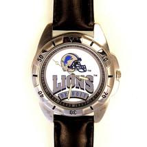 Detroit Lions NFL, Fossil New Unworn, Men's Vintage 1995 Leather Band Watch! $79 - $78.06