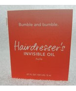 Bumble and Bumble Bb HAIRDRESSER'S Invisible Oil Huile Hair Vial .07 oz/... - $6.93
