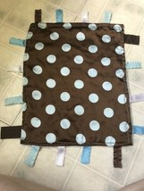 Brown with Blue polka Dots Sensory Baby Jack Security Educational Taggies Lovey - $26.17