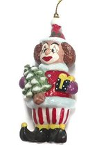 Porcelain Clown Ornament 4.5 inches (A) - $15.00