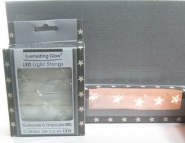 "40"" String 20 Star Warm White Micro LED Lights Battery Operated Holiday ... - $12.82"