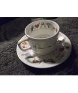 Fortune Telling Tea Cup & Saucer Staffordshire from Royal Kendal - $22.00