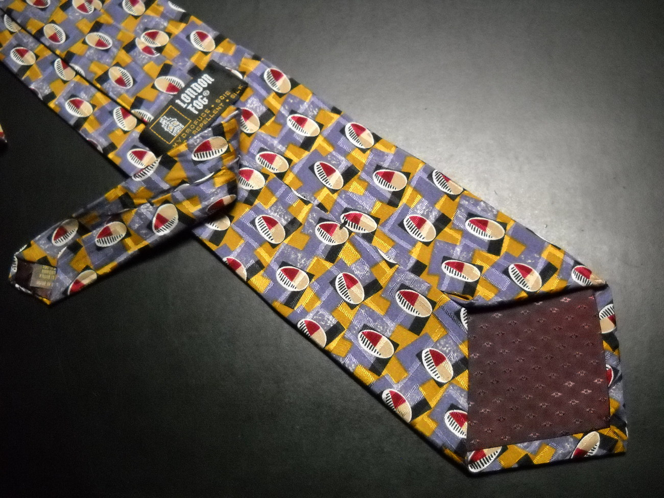 London Fog Neck Tie Italian Silk Water Repellent image 6