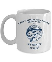 Funny Fisherman Motto Coffee Mug Gift - Fishing Travel Ceramic Cup - Fis... - $14.95+