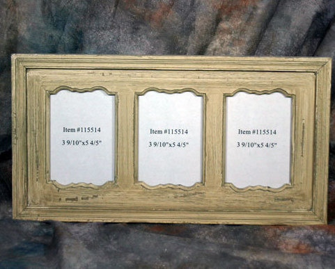 Rustic Country Wooden Triple Picture Frame 4x6