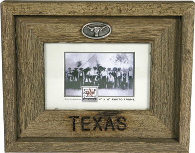 Rustic Texas Country Barnwood Picture Frame 4x6