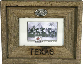 Rustic Texas Country Barnwood Picture Frame 4x6 - $19.95