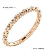 0.35 Carat Genuine Diamond Twist Design Band in 14k Solid Gold - $599.00